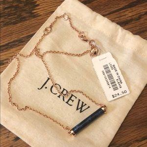 """JCREW 8.5"""" necklace w/ 2"""" sage bar NEW"""